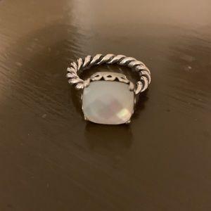 Gently worn pandora pearl ring. RETIRED